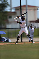 Jorge Romero-Rivera (9) of Instituto de Desarrollo Villas de Loiza High School in Carolina, Puerto Rico during the Under Armour Baseball Factory National Showcase, Florida, presented by Baseball Factory on June 12, 2018 the Joe DiMaggio Sports Complex in Clearwater, Florida.  (Nathan Ray/Four Seam Images)
