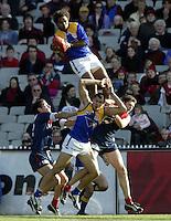 Australian Football League West Coast Eagles v Melbourne at the MCG  Ashley Sampi takes one of the all-time greatest marks.