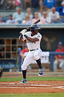 Charlotte Stone Crabs Vidal Brujan (2) at bat during a Florida State League game against the Fort Myers Miracle on April 6, 2019 at Charlotte Sports Park in Port Charlotte, Florida.  Fort Myers defeated Charlotte 7-4.  (Mike Janes/Four Seam Images)