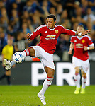 Belgie, Brugge, 26 augustus 2015<br /> Champions League play offs<br /> Seizoen 2015-2016<br /> Club Brugge-Manchester United (0-4)<br /> Memphis Depay van Manchester United in actie met bal