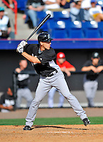 2 March 2011: Florida Marlins catcher Brad Davis in action during a Spring Training game against the Washington Nationals at Space Coast Stadium in Viera, Florida. The Nationals defeated the Marlins 8-4 in Grapefruit League action. Mandatory Credit: Ed Wolfstein Photo