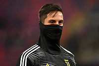 Rodrigo Bentancur of Juventus reacts during the warm up before the Italy Cup 2018/2019 football match between Bologna and Juventus at stadio Renato Dall'Ara, Bologna, January 12, 2019 <br />  Foto Andrea Staccioli / Insidefoto