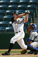 April 27 2007: Mark Trumbo of the Rancho Cucamonga Quakes bats against the Stockton Ports at The Epicenter in Rancho Cucamonga,CA.  Photo by Larry Goren/Four Seam Images