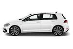 Car Driver side profile view of a 2019 Volkswagen Golf R 5 Door Hatchback Side View