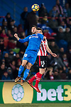 Daniel Pacheco Lobato of Getafe CF (L) fights for the ball with Inigo Lekue of Athletic Club de Bilbao (R) during the La Liga 2017-18 match between Getafe CF and Athletic Club at Coliseum Alfonso Perez on 19 January 2018 in Madrid, Spain. Photo by Diego Gonzalez / Power Sport Images