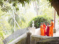 Young buddhist monks at the Mulkirigala Monastery, Sri Lanka