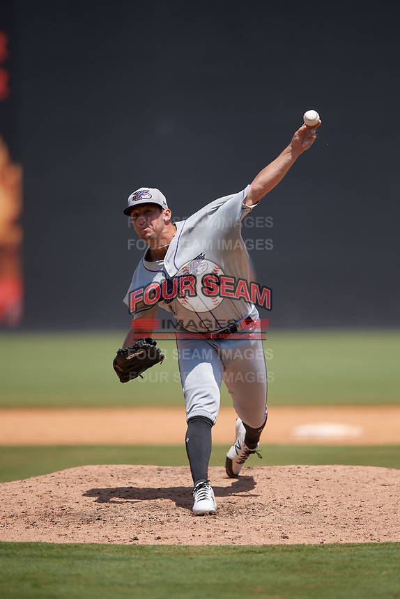 Winston-Salem Dash pitcher Bennett Sousa (22) during a Carolina League game against the Carolina Mudcats on August 14, 2019 at Five County Stadium in Zebulon, North Carolina.  Winston-Salem defeated Carolina 4-2.  (Mike Janes/Four Seam Images)