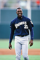 Gary Matthews,jr of the San Diego Padres during a 1999 Major League Baseball Spring Training Game in Phoenix, Arizona. (Larry Goren/Four Seam Images)