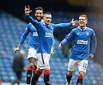 06.03.2021 Rangers v St Mirren: Ryan Kent celebrates his opening goal for Rangers