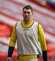 9th January 2021; Bet365 Stadium, Stoke, Staffordshire, England; English FA Cup Football, Carabao Cup, Stoke City versus Leicester City; Sam Vokes of Stoke City during the warm up