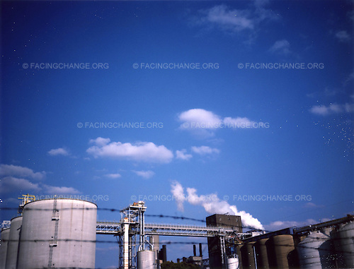 Iowa ,Davenport, <br /> USA.<br /> August 2008<br /> <br /> A view of factory in Iowa.