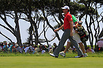 Rory McIlroy (NIR) and caddy J.P.Fitzgerald walk off the 1st tee to start their match Sunday's Final Round of the 94th PGA Golf Championship at The Ocean Course, Kiawah Island, South Carolina, USA 11th August 2012 (Photo Eoin Clarke/www.golffile.ie)