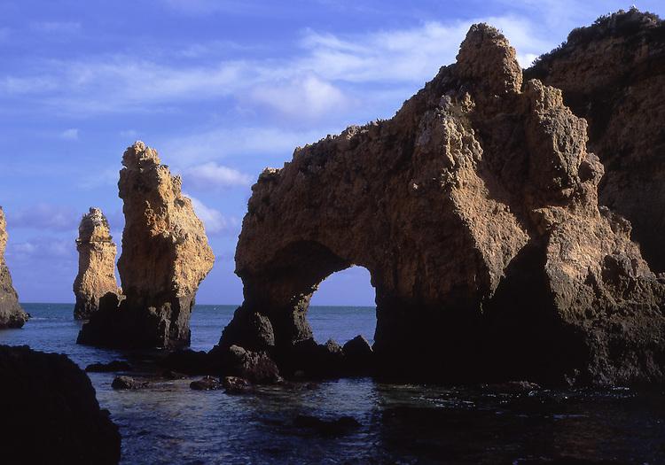 Europe, PRT, Portugal, Algarve, Lagos, Typical Rocky coast, Ponta da Piedade