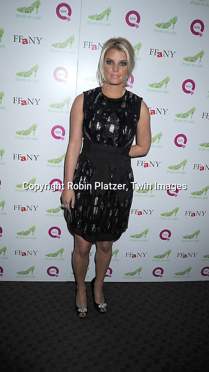 Jessica Simpson in Dolce and Gabbana dress and Jessica Simpson shoes