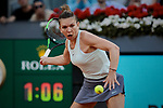 Simona Halep during the Mutua Madrid Open Masters match on day eight at Caja Magica in Madrid, Spain.May 11, 2019. (ALTERPHOTOS/A. Perez Meca)