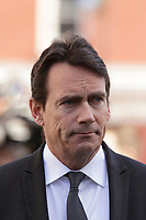 PQ Leader Pierre Karl Peladeau<br /> attend<br /> the funerals of Jean Lapierre, former politician and media,<br />  April 16, 2016 in Outremont.<br /> <br /> Photo : Pierre Roussel - Agence Quebec Presse<br /> <br /> <br /> <br /> <br /> <br /> <br /> <br /> <br /> .