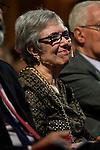 Victoria Rodriguez, Buero Vallejo's widow during the brief tribute to spanish written Buero Vallejo at Instituto Cervantes in Madrid. September 29, 2016. (ALTERPHOTOS/Borja B.Hojas)