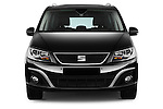Car photography straight front view of a 2016 Seat Alhambra Style Advance 5 Door Minivan Front View