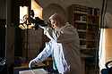 Jerusalem - Shaima Budeiry, 55, is the technician in charge of all the digitization in Jerusalem. The member of a prominent family whose manuscript library has already been digitized, Budeiry studied manuscript conservation in Dubai for two years before starting to collaborate with Father Stewart. Budeiry is currently digitizing the 200 Sufi, Islamic and scientific manuscripts of the Bukhari Zawiya Library, some of whom date back to the 14th century.