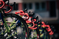 team Wanty-Groupe Gobert bikes lined up before the start<br /> <br /> Stage 5: Lorient > Quimper (203km)<br /> <br /> 105th Tour de France 2018<br /> ©kramon