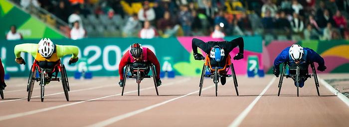 Benjamin Brown, Lima 2019 - Para Athletics // Para-athlétisme.<br /> Ben Brown competes in the men's 100m T53 // Ben Brown participe au 100 m T53 masculin. 27/08/2019.
