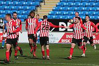 Sunderland's Aiden McGeady celebrates scoring the equalising goal    during Peterborough United vs Sunderland AFC, Sky Bet EFL League 1 Football at London Road on 5th April 2021