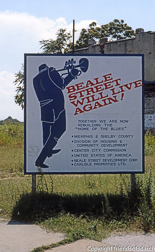 Memphis:  Beale St. Renewal Sign.