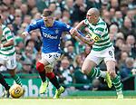 31.03.2019 Celtic v Rangers: Ryan Kent and Scott Brown