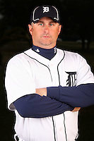 February 27, 2010:  Coach Phil Nevin of the Detroit Tigers poses for a photo during media day at Joker Marchant Stadium in Lakeland, FL.  Photo By Mike Janes/Four Seam Images