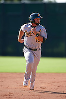 Oakland Athletics Ryan Howell (19) during an instructional league game against the San Francisco Giants on October 12, 2015 at the Giants Baseball Complex in Scottsdale, Arizona.  (Mike Janes/Four Seam Images)