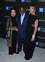 SANTA MONICA, CA - OCT 7:  Jacqueline Avant, Clarence Avant and Sylvia Rhone at the City Of Hope Spirit Of Life Gala 2019 at the Barker Hangar on October 7. 2019 in Santa Monica, California. (Photo by Xavier Collin/PictureGroup)