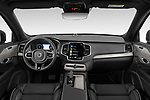 Stock photo of straight dashboard view of a 2020 Volvo XC90 R-Design 5 Door SUV