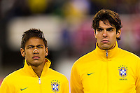 Neymar (11) and Kaka (8) of Brazil. Brazil (BRA) and Colombia (COL) played to a 1-1 tie during international friendly at MetLife Stadium in East Rutherford, NJ, on November 14, 2012.
