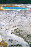 Grand Prismatic Spring<br /> Midway Geyser Basin<br /> Yellowstone National Park<br /> Rocky Mountains,  Wyoming
