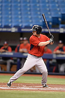 Boston Red Sox outfielder Danny Mars (40) during an Instructional League game against the Tampa Bay Rays on September 25, 2014 at Tropicana Field in St. Petersburg, Florida.  (Mike Janes/Four Seam Images)