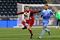 Chester, PA - Friday December 08, 2017: Rece Buckmaster, Alan Winn The Indiana Hoosiers defeated the North Carolina Tar Heels 1-0 during an NCAA Men's College Cup semifinal soccer match at Talen Energy Stadium.