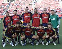 Real Salt Lake starting team in the 1-3 RSL win at Rice Eccles Stadium in Salt Lake City, Utah on  May 31, 2008