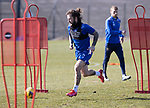 St Johnstone Training...19.03.21<br />Stevie May pictured during training at McDiarmid Park ahead of tomorrows game against Ross County.<br />Picture by Graeme Hart.<br />Copyright Perthshire Picture Agency<br />Tel: 01738 623350  Mobile: 07990 594431