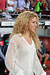 Shakira in Camp Nou stadium.