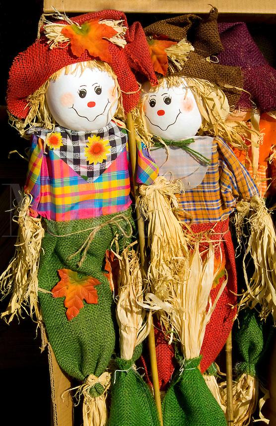 Colorful doll scarecrow, Wilmington, Vermont