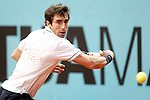 Pablo Cuevas, Uruguay, during Madrid Open Tennis 2016 match.May, 4, 2016.(ALTERPHOTOS/Acero)