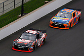 NASCAR XFINITY Series<br /> Lilly Diabetes 250<br /> Indianapolis Motor Speedway, Indianapolis, IN USA<br /> Saturday 22 July 2017<br /> Kyle Busch, NOS Energy Drink Rowdy Toyota Camry and Erik Jones, GameStop/Nerf Toyota Camry<br /> World Copyright: Nigel Kinrade<br /> LAT Images