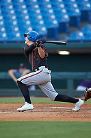 Dom Presto (29) of Palm Beach Gardens HS in Palm Beach Gardens, FL playing for the San Francisco Giants scout team during the East Coast Pro Showcase at the Hoover Met Complex on August 2, 2020 in Hoover, AL. (Brian Westerholt/Four Seam Images)