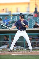 Bobby Boyd (3) of the Lancaster JetHawks bats against the Visalia Rawhide at The Hanger on July 6, 2016 in Lancaster, California. Lancaster defeated Visalia, 10-7. (Larry Goren/Four Seam Images)