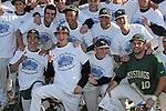 Cal Poly SLO baseball team celebrates winning a tournament in Santa Barbara, CA.