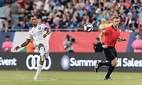 FOXBOROUGH, MA - JULY 28: Nani #17 passes the ball during a game between Orlando City SC and New England Revolution at Gillette Stadium on July 27, 2019 in Foxborough, Massachusetts.
