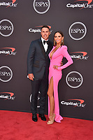 LOS ANGELES, USA. July 10, 2019: Brooks Koepka & Jena Sims at the 2019 ESPY Awards at the Microsoft Theatre LA Live.<br /> Picture: Paul Smith/Featureflash