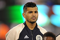 EAST RUTHERFORD, NJ - SEPTEMBER 7: Jesus Manuel Corona #17 of Mexico during the presentation of the team during a game between Mexico and USMNT at MetLife Stadium on September 6, 2019 in East Rutherford, New Jersey.
