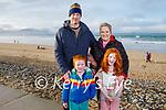 James, Jack, Antonia and Emma Pierse enjoying a stroll on Banna beach on Sunday.
