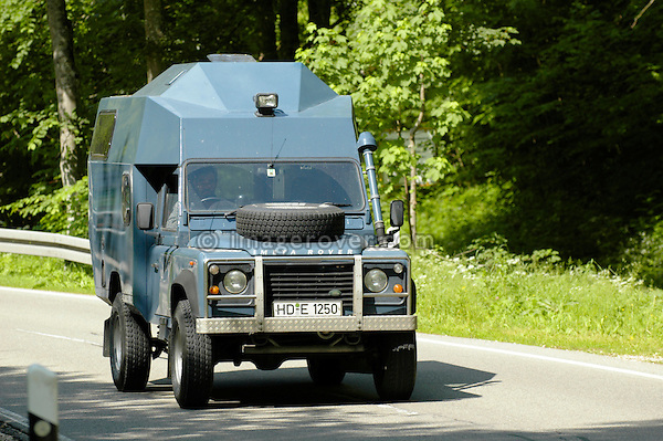 Germany, Land Rover Classic Club 2005. Roland Koch's Defender 110 200 tdi based custom built Land Rover camper called Meta Rover. --- No releases available. Automotive trademarks are the property of the trademark holder, authorization may be needed for some uses.